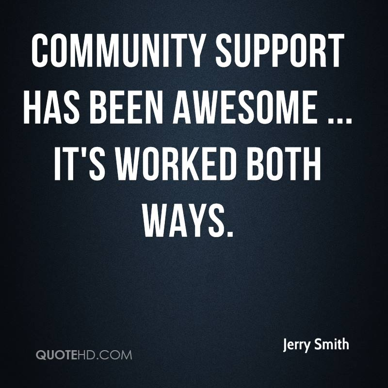 Quotes About Community: Jerry Smith Quotes