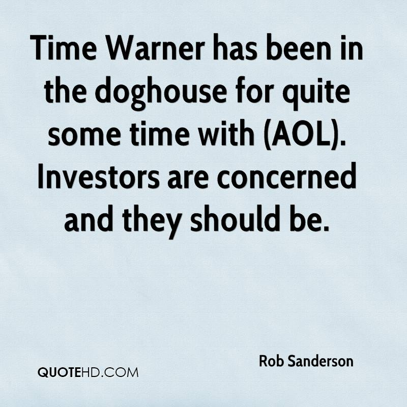 Time Warner has been in the doghouse for quite some time with (AOL). Investors are concerned and they should be.
