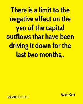 There is a limit to the negative effect on the yen of the capital outflows that have been driving it down for the last two months.
