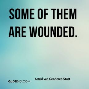 Astrid van Genderen Stort - Some of them are wounded.