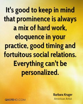 It's good to keep in mind that prominence is always a mix of hard work, eloquence in your practice, good timing and fortuitous social relations. Everything can't be personalized.
