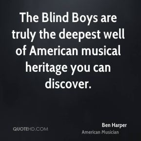 The Blind Boys are truly the deepest well of American musical heritage you can discover.