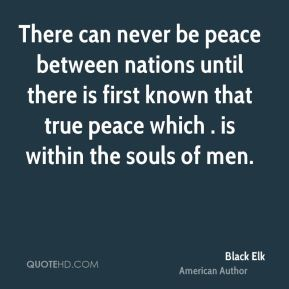 There can never be peace between nations until there is first known that true peace which . is within the souls of men.