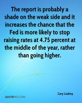 The report is probably a shade on the weak side and it increases the chance that the Fed is more likely to stop raising rates at 4.75 percent at the middle of the year, rather than going higher.