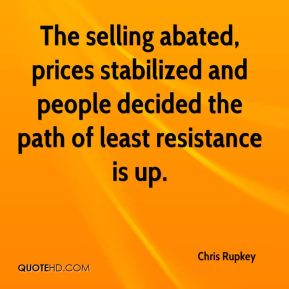 Chris Rupkey - The selling abated, prices stabilized and people decided the path of least resistance is up.