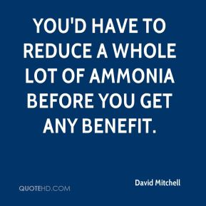 David Mitchell - You'd have to reduce a whole lot of ammonia before you get any benefit.