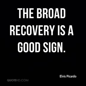The broad recovery is a good sign.