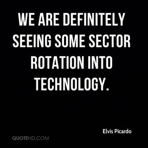 We are definitely seeing some sector rotation into technology.