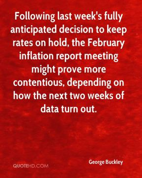 Following last week's fully anticipated decision to keep rates on hold, the February inflation report meeting might prove more contentious, depending on how the next two weeks of data turn out.
