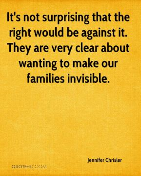 It's not surprising that the right would be against it. They are very clear about wanting to make our families invisible.