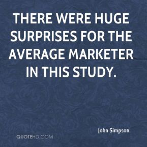 There were huge surprises for the average marketer in this study.
