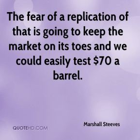 The fear of a replication of that is going to keep the market on its toes and we could easily test $70 a barrel.