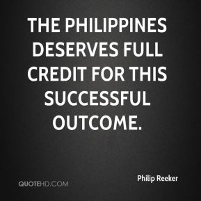 The Philippines deserves full credit for this successful outcome.