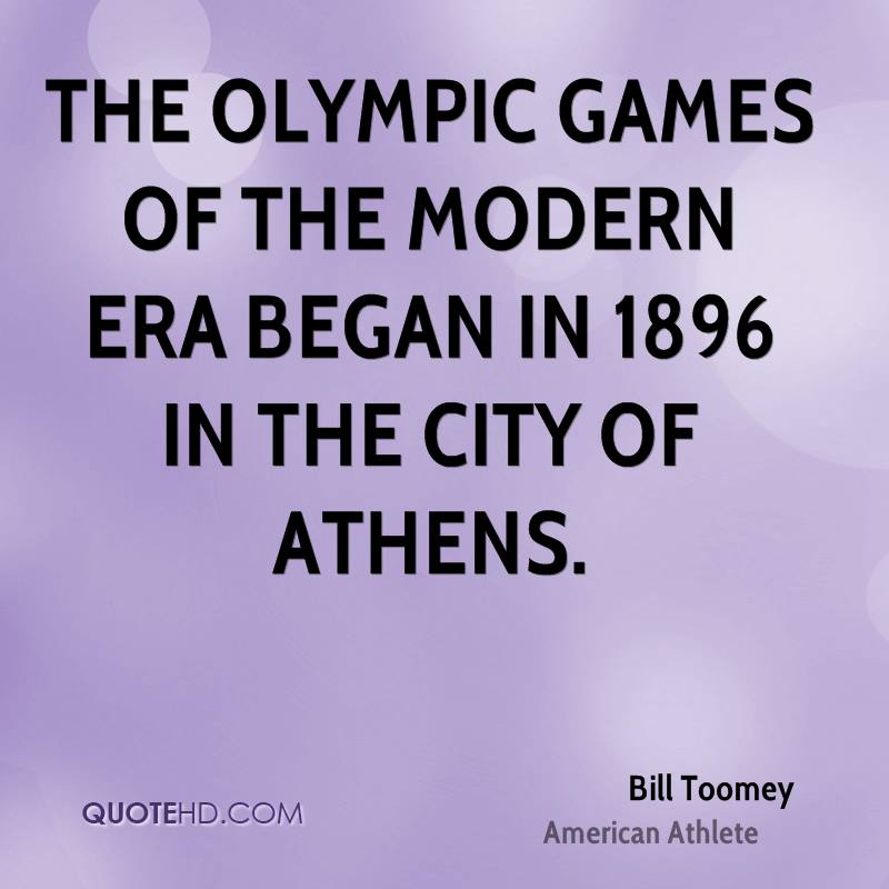 The Olympic Games of the Modern Era began in 1896 in the city of Athens.