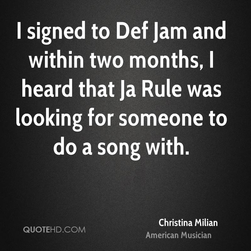 I signed to Def Jam and within two months, I heard that Ja Rule was looking for someone to do a song with.