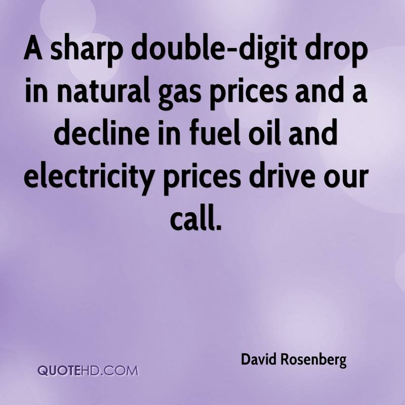 A sharp double-digit drop in natural gas prices and a decline in fuel oil and electricity prices drive our call.