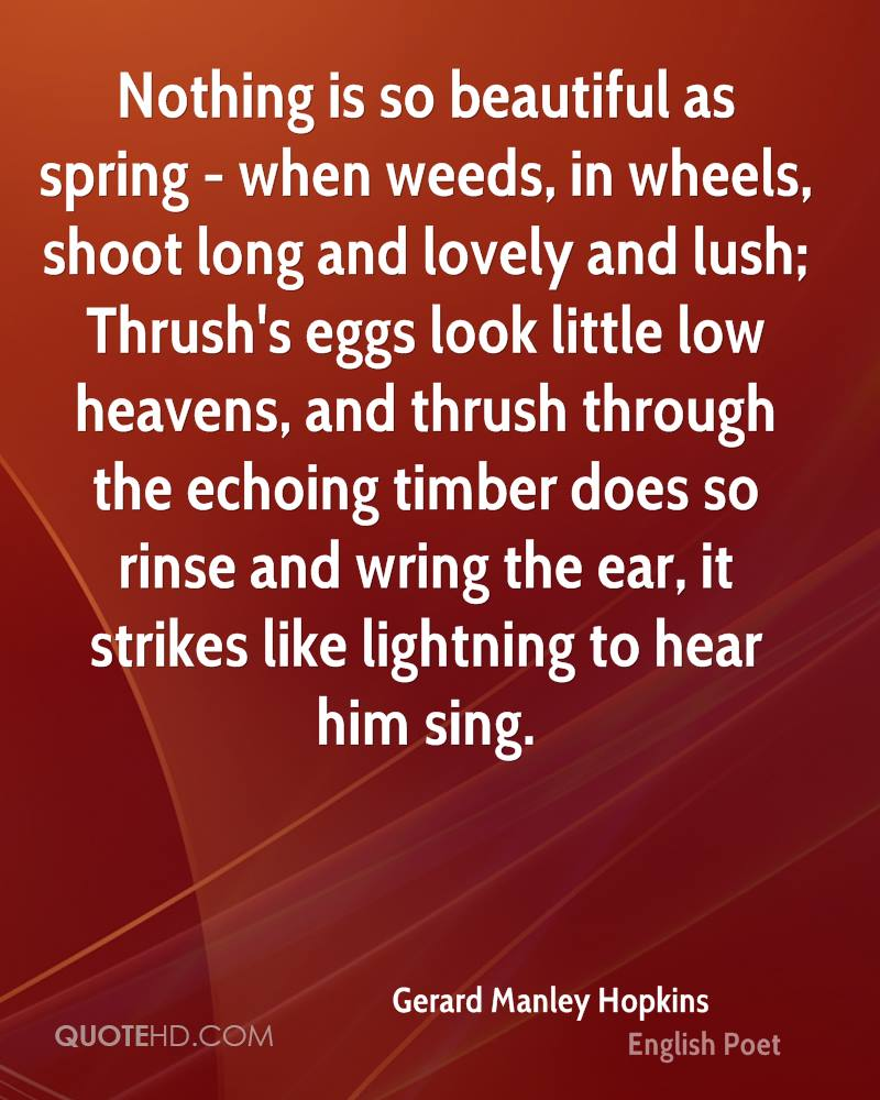 Gerard Manley Hopkins English Poet
