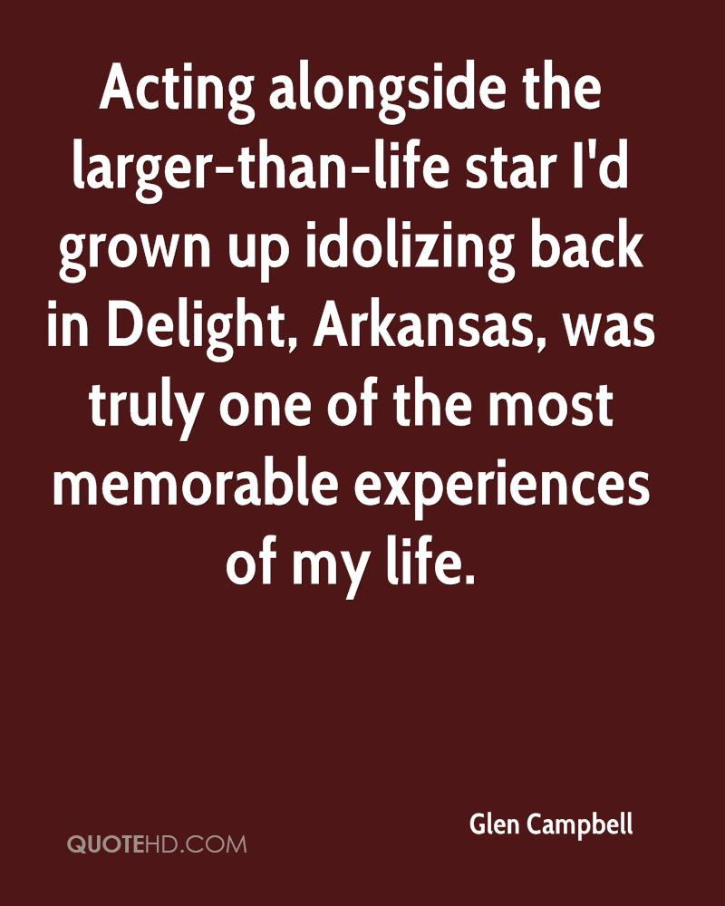 Acting alongside the larger-than-life star I'd grown up idolizing back in Delight, Arkansas, was truly one of the most memorable experiences of my life.