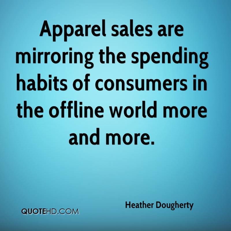 Apparel sales are mirroring the spending habits of consumers in the offline world more and more.