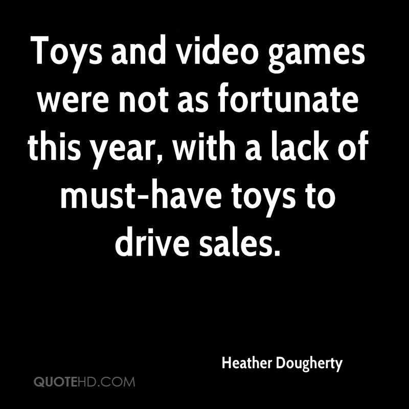 Toys and video games were not as fortunate this year, with a lack of must-have toys to drive sales.