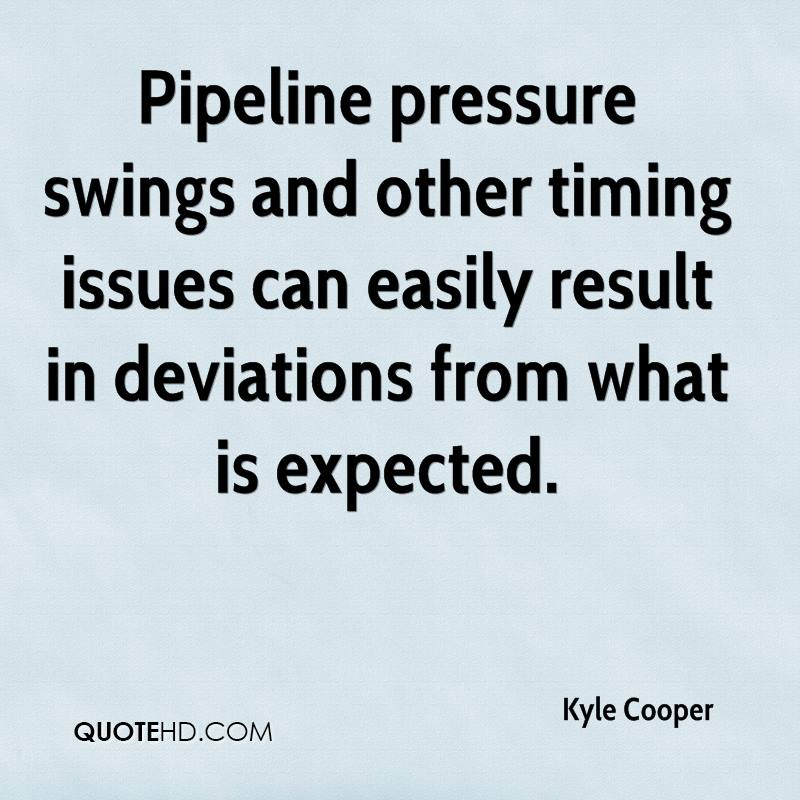 Pipeline pressure swings and other timing issues can easily result in deviations from what is expected.