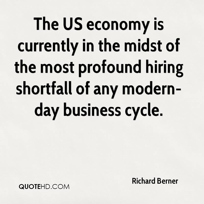 The US economy is currently in the midst of the most profound hiring shortfall of any modern-day business cycle.