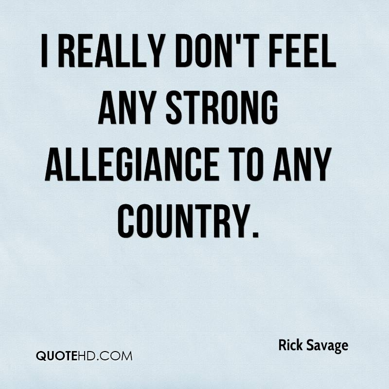 Country Feeling In Adamstown: Rick Savage Quotes