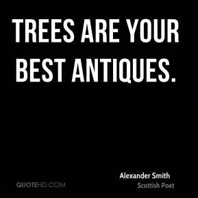 Trees are your best antiques.