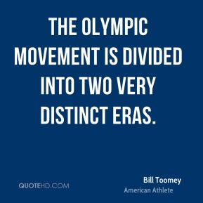 The Olympic movement is divided into two very distinct eras.