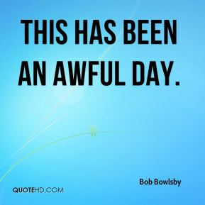 Bob Bowlsby - This has been an awful day.
