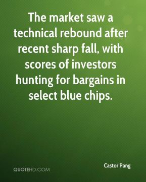 Castor Pang - The market saw a technical rebound after recent sharp fall, with scores of investors hunting for bargains in select blue chips.