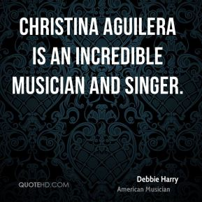 Christina Aguilera is an incredible musician and singer.