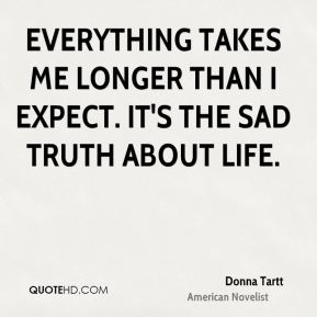 Everything takes me longer than I expect. It's the sad truth about life.