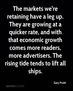 The markets we're retaining have a leg up. They are growing at a quicker rate, and with that economic growth comes more readers, more advertisers. The rising tide tends to lift all ships.