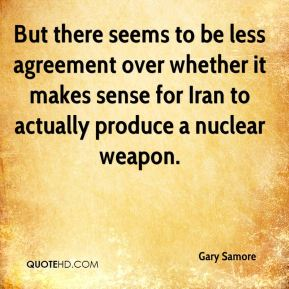 But there seems to be less agreement over whether it makes sense for Iran to actually produce a nuclear weapon.
