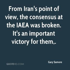 From Iran's point of view, the consensus at the IAEA was broken. It's an important victory for them.