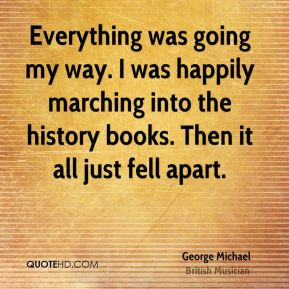 Everything was going my way. I was happily marching into the history books. Then it all just fell apart.