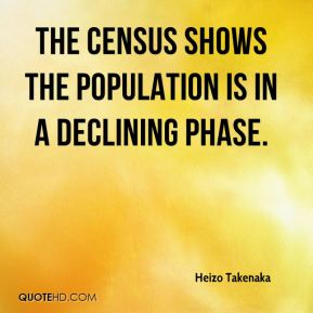 The census shows the population is in a declining phase.