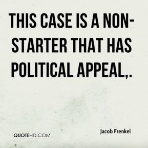 This case is a non-starter that has political appeal.