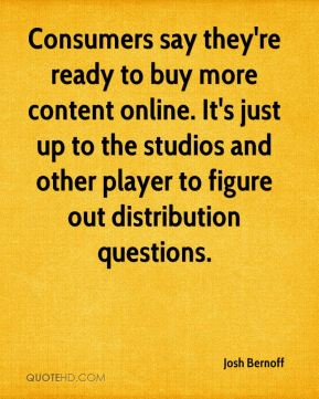 Consumers say they're ready to buy more content online. It's just up to the studios and other player to figure out distribution questions.