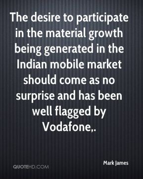 The desire to participate in the material growth being generated in the Indian mobile market should come as no surprise and has been well flagged by Vodafone.