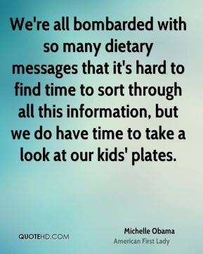 We're all bombarded with so many dietary messages that it's hard to find time to sort through all this information, but we do have time to take a look at our kids' plates.