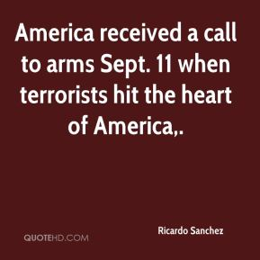 America received a call to arms Sept. 11 when terrorists hit the heart of America.