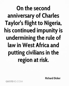 On the second anniversary of Charles Taylor's flight to Nigeria, his continued impunity is undermining the rule of law in West Africa and putting civilians in the region at risk.