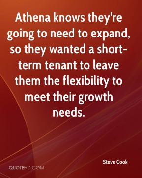 Athena knows they're going to need to expand, so they wanted a short-term tenant to leave them the flexibility to meet their growth needs.