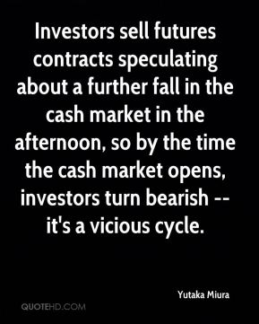 Investors sell futures contracts speculating about a further fall in the cash market in the afternoon, so by the time the cash market opens, investors turn bearish -- it's a vicious cycle.