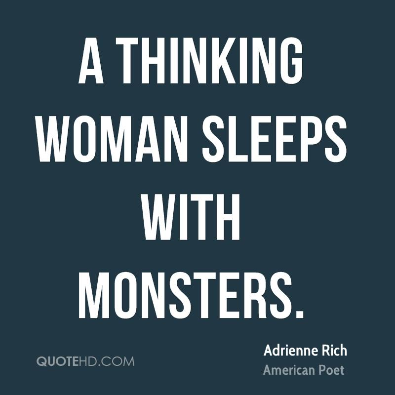 A thinking woman sleeps with monsters.