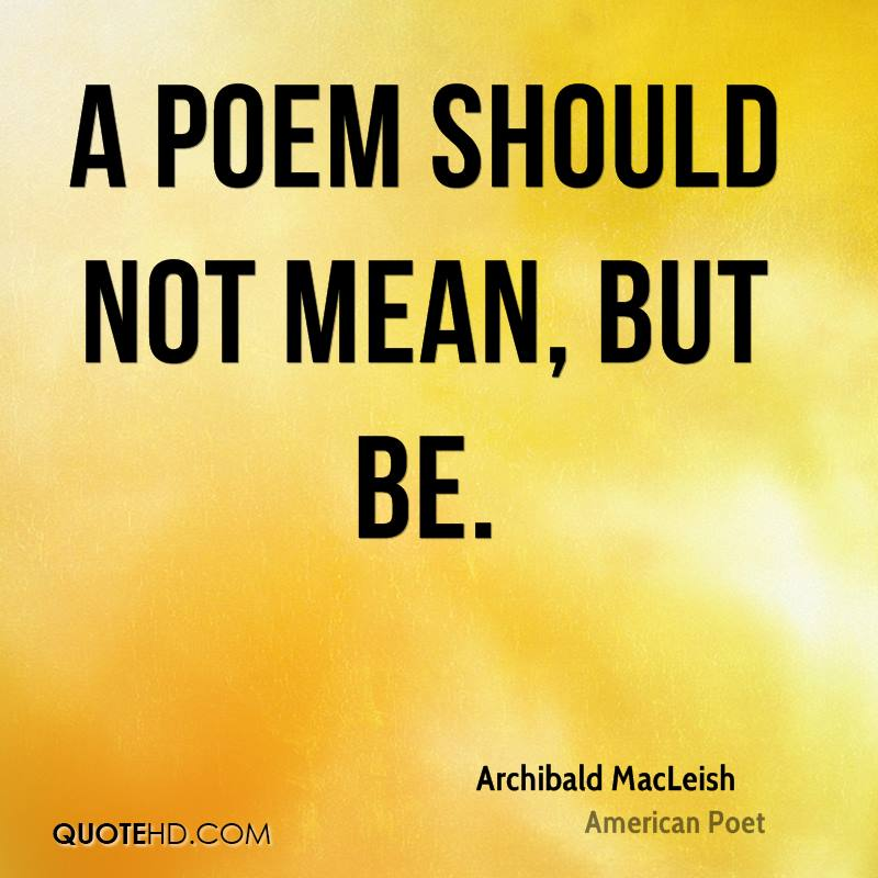 archibald macleishs view on poetry and its importance for america
