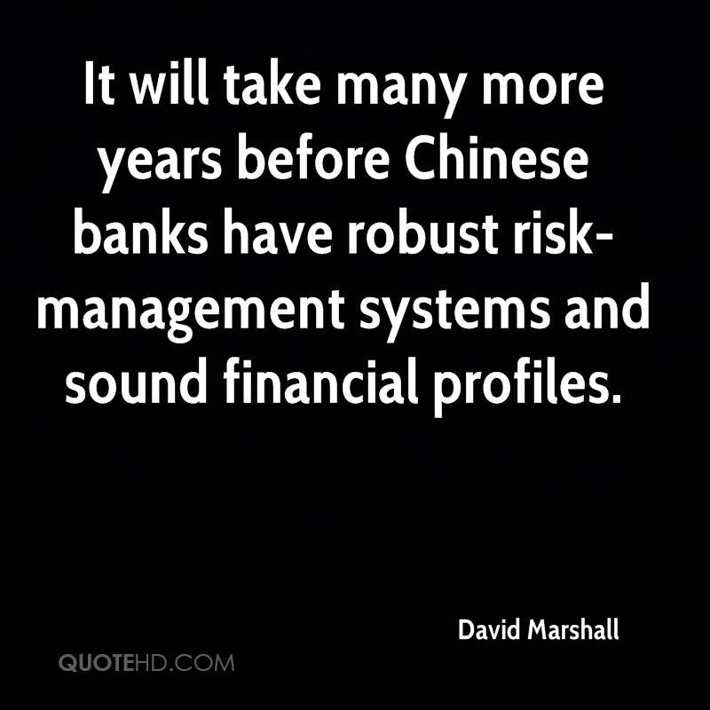 It will take many more years before Chinese banks have robust risk-management systems and sound financial profiles.