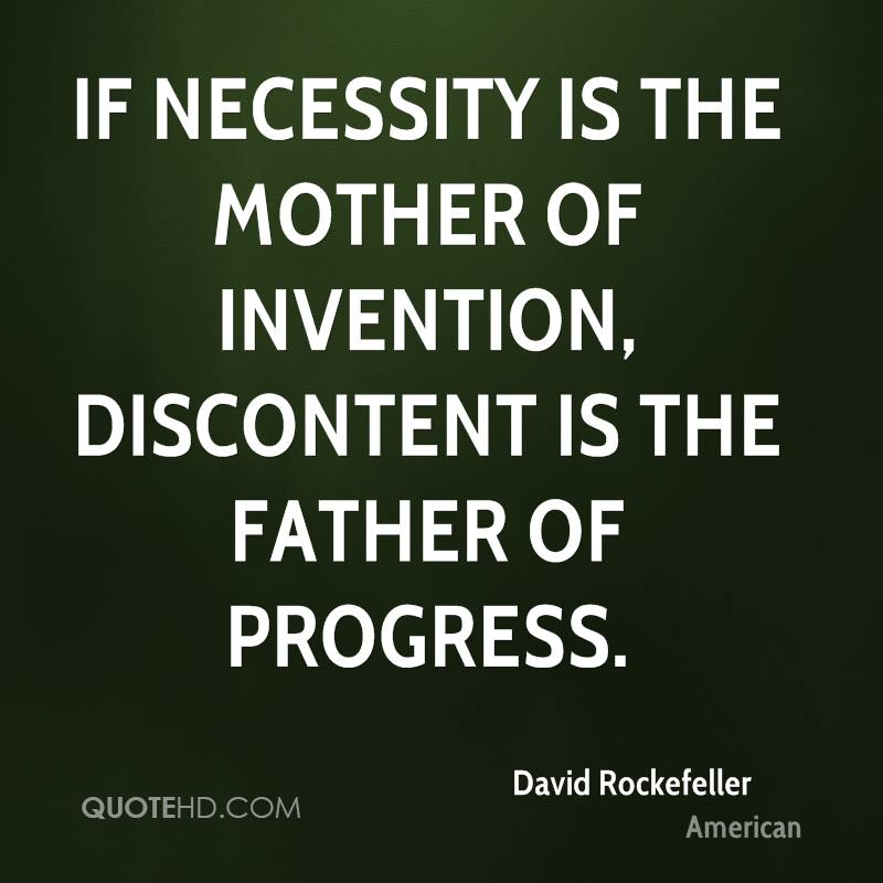 invention is the mother of necessity essay